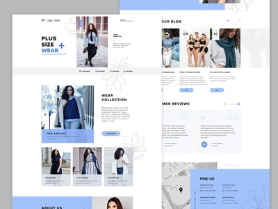 Landing Page ui ux design