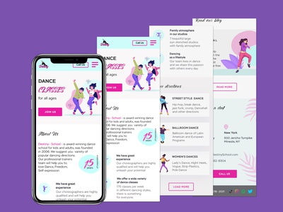 Adaptive Design for Dance Studio adaptive design landingpage webdesign website