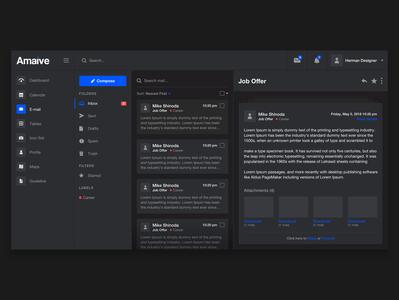 Dark E-mail - Amaive template