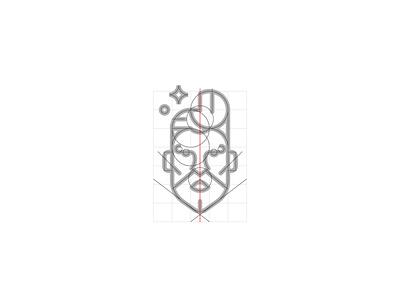 Barber Shop logo reticle haircut barbershop men reticle man minimal line geometric illustration icon symbol logo