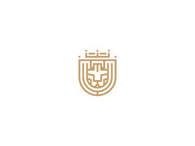 Soccer lion logo soccer football minimal mark geometric king line animal crown symbol lion logo lion