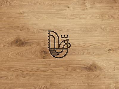 Gallo animal branding chef cock rooster geometry minimal line mark symbol illustration icon logo