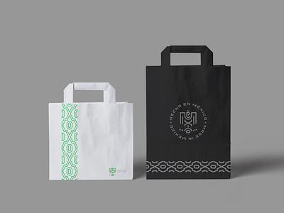 Mexico logo / Bag aztec mayan mexican eagle geometry branding minimal line geometric animal icon symbol logo mexico