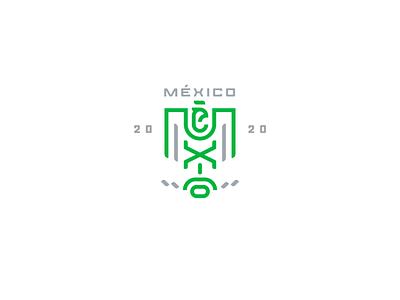 Symbol exploration for Mexico bird symbol aztec mayan branding minimal line geometric animal mexican mexico icon logo eagle