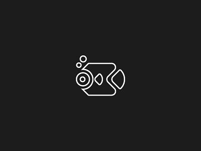 Fish logo line water fish minimal illustration branding geometric icon animal symbol logo