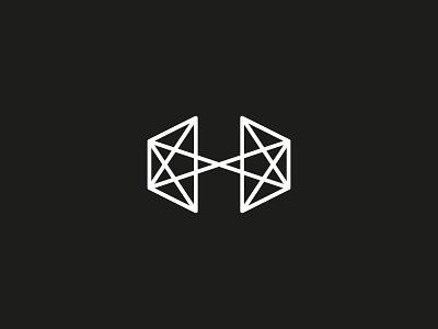 H star logo geometry union cross space letter h geometric design line icon symbol logo