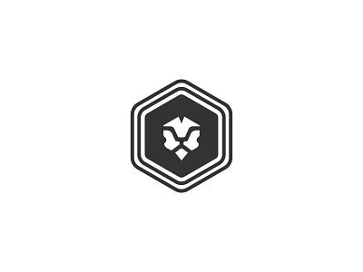 Lion head safari wildlife zoo lion minimal geometric animal illustration icon symbol logo