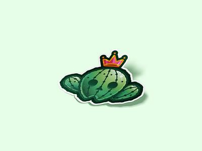 Cactus sticker icon logo line sticker cactus plant