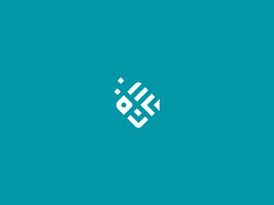 Cichlid fish recreation diving marine aquarium minimal insignia geometry aqua icon symbol logo fish