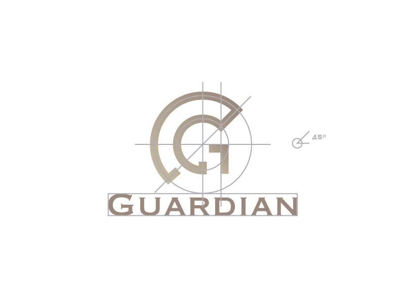 Guardian + G branding geometric design warrior geometry monogram letter g smart logo logo construction mark symbol minimal geometric icon line guardian símbolo logo