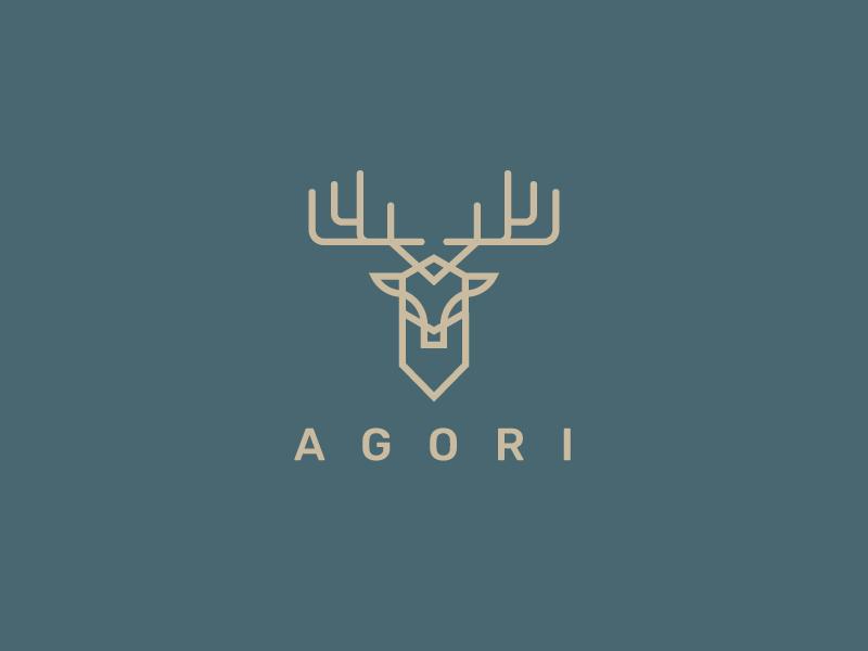Deer Logo wild venado deer insignia branding geometry minimal line geometric icon illustration mark animal symbol logo