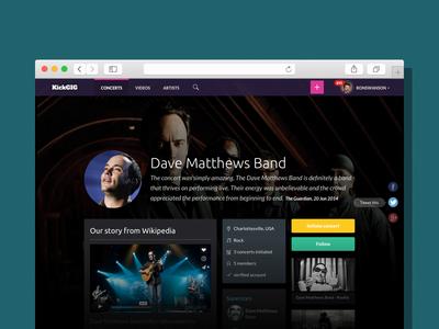 Kickgig / Music Band Page band profile page profile music band