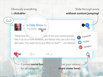 Social Stacks for WordPress Promo Banner #2 stream social share social media social card social stream wordpress plugin wordpress