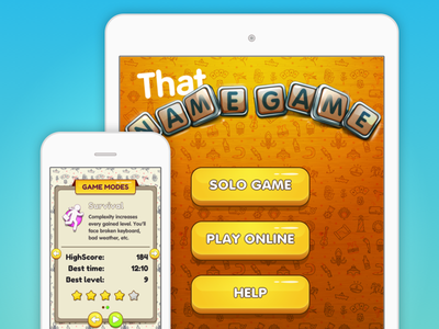 That Name Game / Game Interface ios word game word game in-app purchases ipad iphone universal app appstore travel mobile game game ui ios game ios