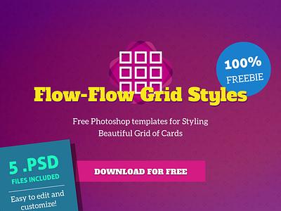 Flow-Flow / Social Cards PSD Template Freebie social social media psd free psd grid free freebie