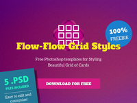 Flow-Flow / Social Cards PSD Template Freebie