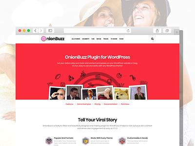 OnionBuzz Viral Quiz Maker — Demo Site personality trivia stories fun features site demo plugin wordpress buzz viral quiz