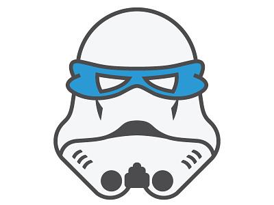 Storm Ninja Dribbble starwars fun pizza teenage turtle mutant stars wars trooper ninja storm