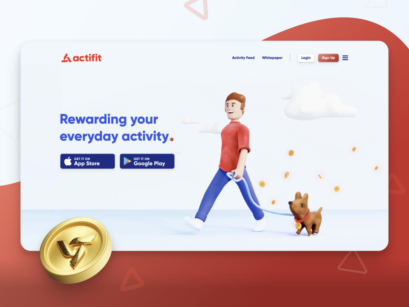 Actifit Landing Page - Brand Revamp