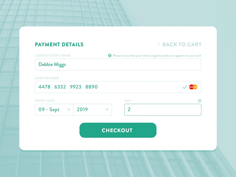Day 004 - Credit Card Payment