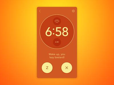 Day 013 - Alarm Clock wake ui snooze mobile minimal flat dailyui clock challenge app alarm 013