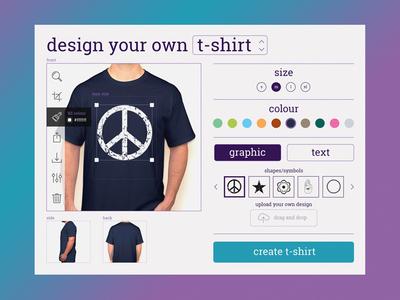 Day 015 - T-Shirt Creator widget graphic custom creator dailyui daily design t-shirt card 014