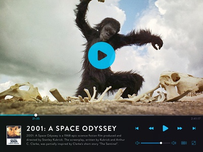 Day 016 - Video Player skip play tv movie interface odyssey space dailyui daily player video 016