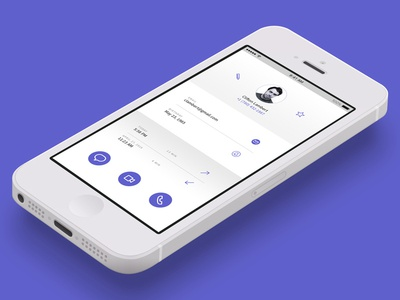 Day 025 - Contact Profile ui flat dailyui challenge app mobile screen profile contact 025