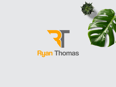Ryan Thomas logo design  RT brand dribble shot icon font design motion graphics brand design design clean minimal bold creative design crtea branding logo graphic design