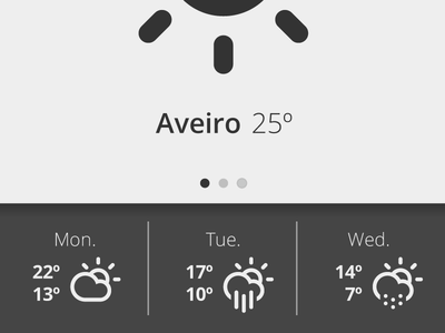 Mist weather app detail mobile android grey