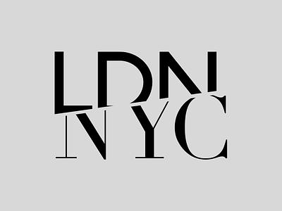 LDN ✈ NYC typography ny nyc new york ldn london