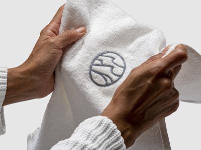 Conserva Collective Towel Logo Embroidery water ocean wave baja mexico hungary symbol identity branding logo