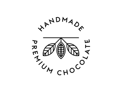 Stamp for Krausz Handmade Chocolate south america america nature handmade cocoa chocolate bar chocolate stamp logo