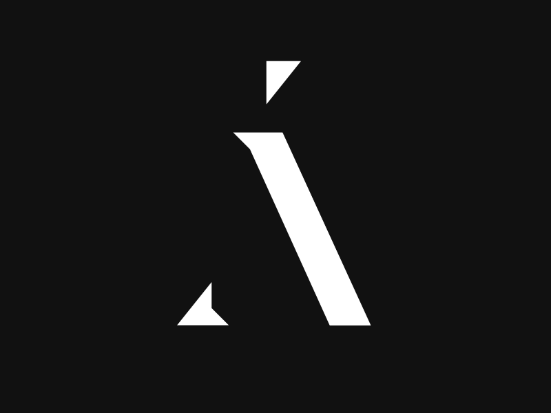 Á - Custom type logotype magyar hungarian a Á stencil custom