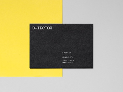 D-tector envelope hungary black minimal yellow industrial security metal detector