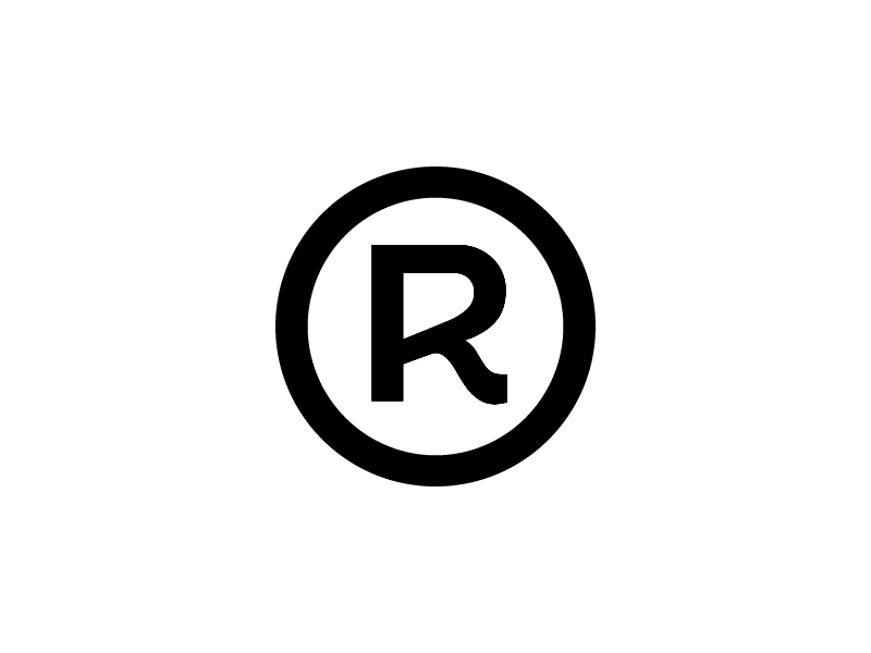 Peltan-Brosz Logo letter r round circle logo studio mark trade registred