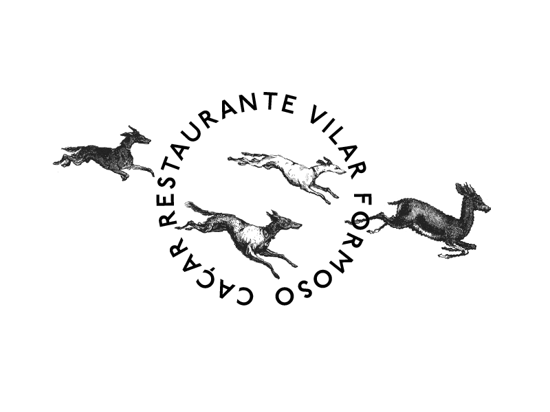 Logo & Illustration for Fusion Cuisine Restaurant food cuisine wine dog branding illustration restaurant logo identity drawing animals graphic-design