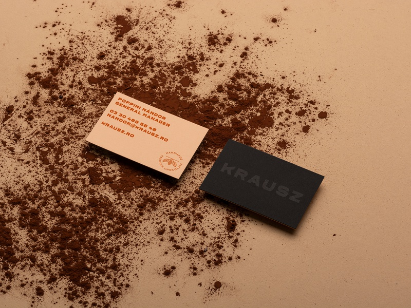 Krausz Handmade Chocolate Business cards