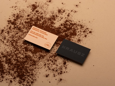 Krausz Handmade Chocolate Business cards delicious food chocolate businesscard logo identity logotype