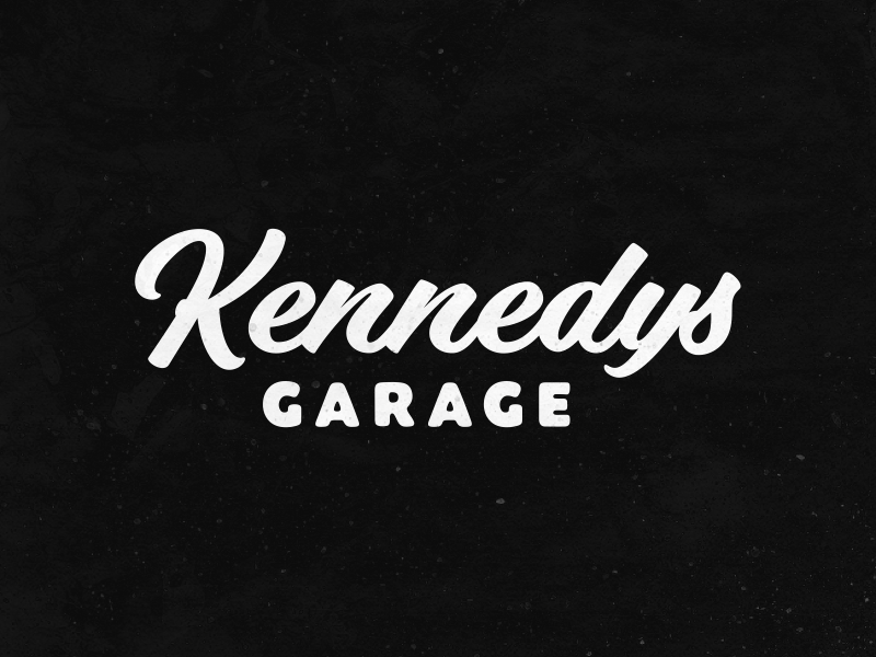 Kennedy's Garage branding logo