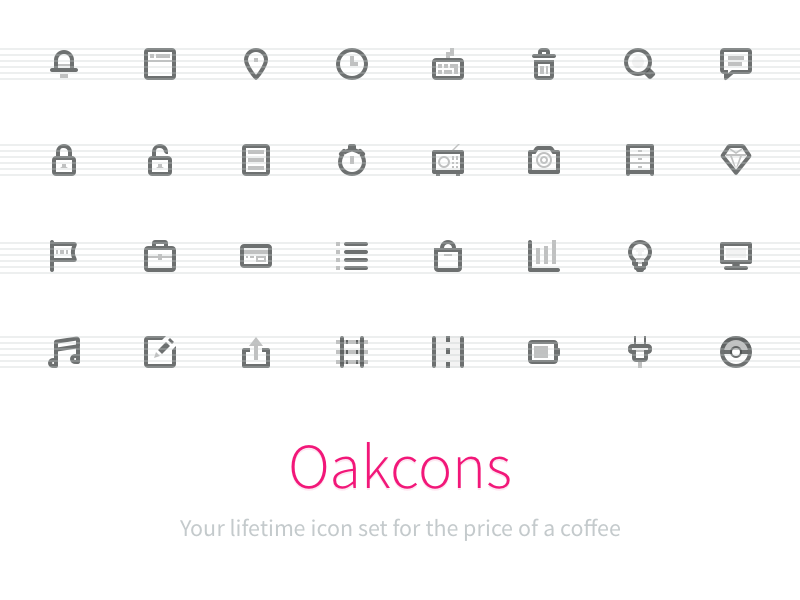 Oakcons: Your lifetime icon set for the price of a coffee png 16px icons coffee subscribe oakcons icon pack 2 euro 16 sketch svg