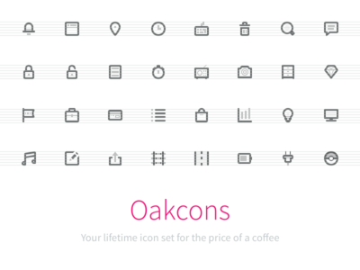 Oakcons: Your lifetime icon set for the price of a coffee