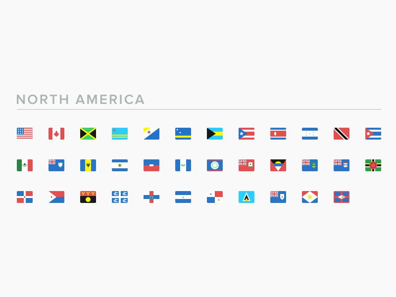 SEOshop Flags: North America mexico canada usa flag seoshop icons set america north flags