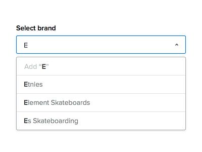 Select brand... seoshop add select dropdown
