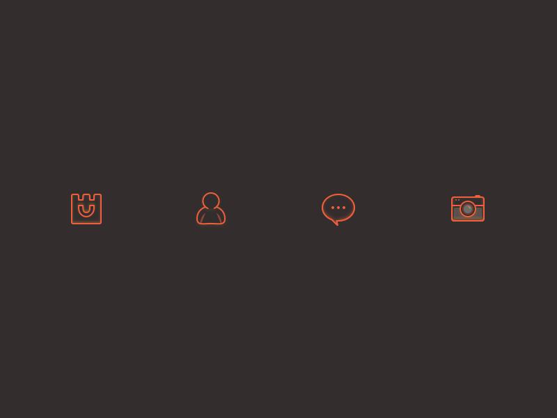 Camarilla icons camera comments profile icon tabbar icondesign icons