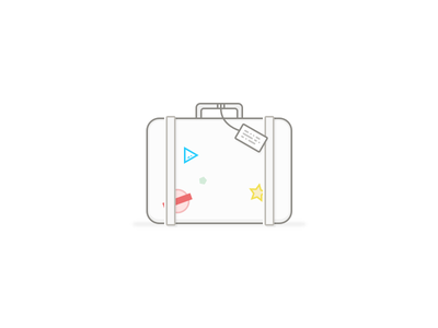 Pack your bags... leipe shit vacation pack bags illustration ios app airport luggage