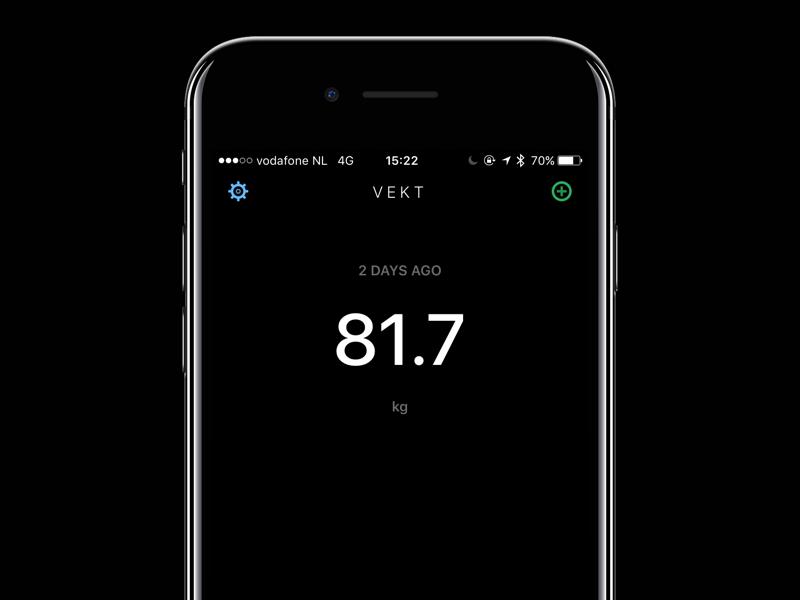 Vekt ui app ios target healthkit health tracking weight vekt