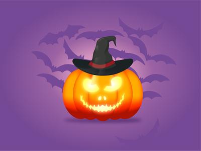 Halloween Pumpkin design illustration