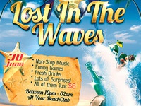 Lost In The Waves Party Flyer -PSD-