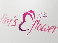 Flower - Florist Logo Template -PSD